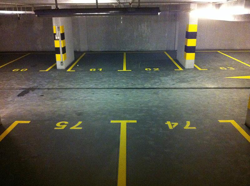 Oznakowanie Garażu Żółte